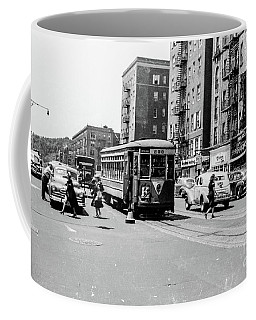 Coffee Mug featuring the photograph Inwood Trolley  by Cole Thompson