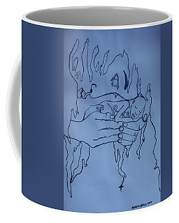 Coffee Mug featuring the painting Jesus King Of  Africa by Gloria Ssali