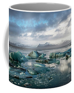 Coffee Mug featuring the photograph Jokulsarlon, The Glacier Lagoon, Iceland 3 by Dubi Roman