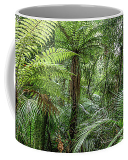 Coffee Mug featuring the photograph Jungle Ferns by Les Cunliffe