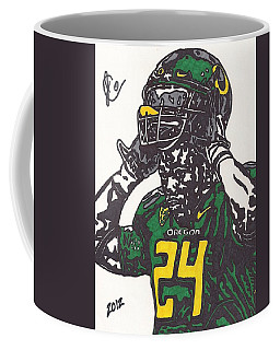 Coffee Mug featuring the drawing Kenjon Barner 1 by Jeremiah Colley