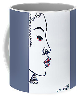 Coffee Mug featuring the painting Lady In Red by Gloria Ssali
