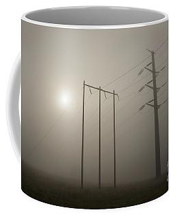 Large Transmission Towers In Fog Coffee Mug