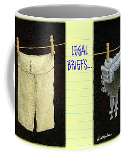 Coffee Mug featuring the painting Legal Briefs... by Will Bullas