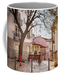 Coffee Mug featuring the photograph Lisbon's City Street by Ariadna De Raadt