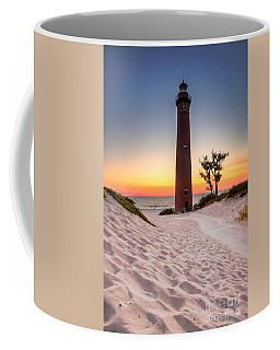 Little Sable Point Light Station Coffee Mug by Larry Carr