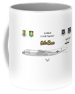Coffee Mug featuring the digital art Lockheed C-141b by Arthur Eggers