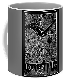 Louisville Kentucky City Map 6 Coffee Mug