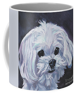 Coffee Mug featuring the painting Maltese by Lee Ann Shepard