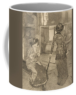 Mary Cassatt At The Louvre Coffee Mug
