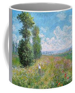 Meadow With Poplars Coffee Mug