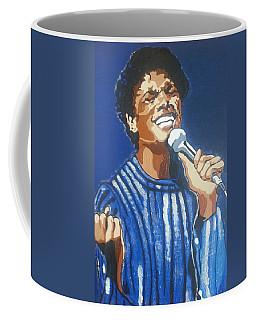 Coffee Mug featuring the painting Michael Jackson by Rachel Natalie Rawlins