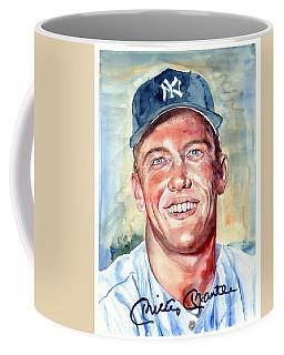 Mickey Mantle Portrait Coffee Mug