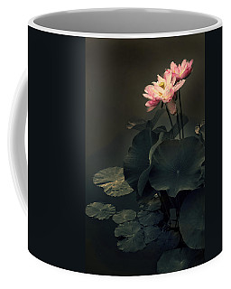 Midnight Lotus Coffee Mug by Jessica Jenney
