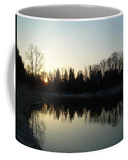 Coffee Mug featuring the photograph Mississippi River Sunrise Reflection by Kent Lorentzen