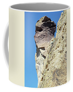 Coffee Mug featuring the digital art Monkey Face Rock - Smith Rock National Park by Joseph Hendrix