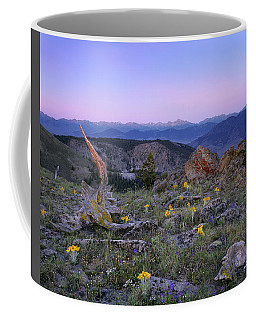 Mountain Sunrise Coffee Mug by Leland D Howard
