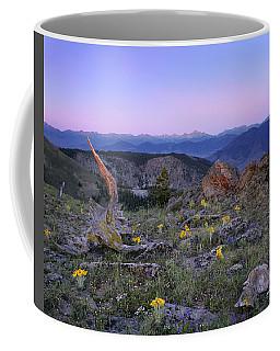 Coffee Mug featuring the photograph Mountain Sunrise by Leland D Howard