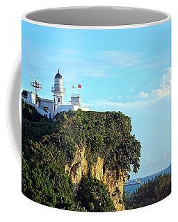 Coffee Mug featuring the photograph Old Lighthouse Overlooking Kaohsiung Harbor by Yali Shi