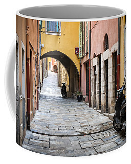 Old Town In Villefranche-sur-mer Coffee Mug
