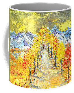 Coffee Mug featuring the painting On The Road by Evelina Popilian