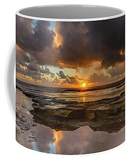 Overcast And Cloudy Sunrise Seascape Coffee Mug