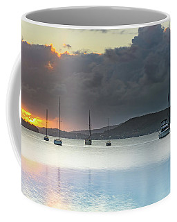 Overcast Sunrise Waterscape Coffee Mug