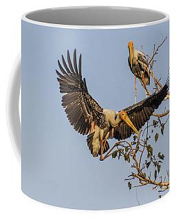 Painted Stork  Coffee Mug