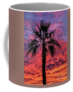 Coffee Mug featuring the photograph Palm Tree Silhouette by Robert Bales