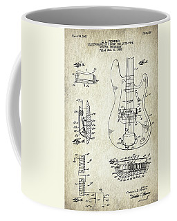 Patent Drawing For The 1959 Electromagnetic Pickup For Lute Type Musical Instrument By C. L. Fender Coffee Mug