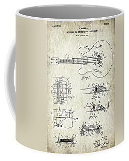 Patent Drawing For The 1960 Mute Means For String Musical Instruments By L. P. Allers Coffee Mug