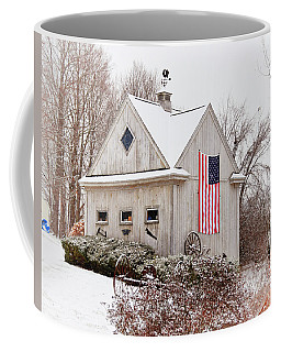 Patriotic Barn Coffee Mug by Tricia Marchlik