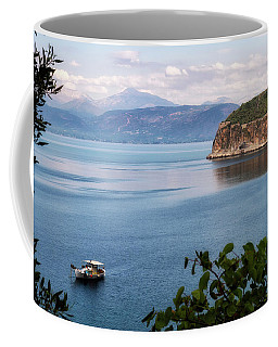 Coffee Mug featuring the photograph Peloponnes Peninsular, by Shirley Mitchell