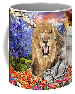 Coffee Mug featuring the digital art Perfect Peace by Dolores Develde