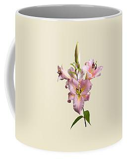 Pink Lilies On Cream Coffee Mug by Jane McIlroy