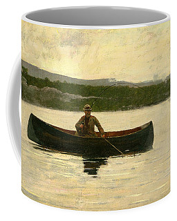 Coffee Mug featuring the painting Playing A Fish by Winslow Homer