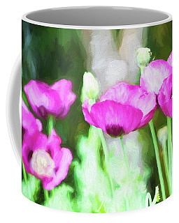 Coffee Mug featuring the painting Poppies by Bonnie Bruno
