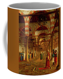 Coffee Mug featuring the painting Prayer In The Mosque by Jean-Leon Gerome