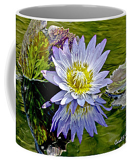 Purple Water Lily Pond Coffee Mug by Carol F Austin