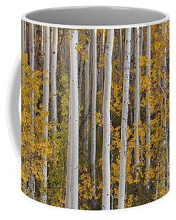 Quaking Aspens In Autumn Coffee Mug