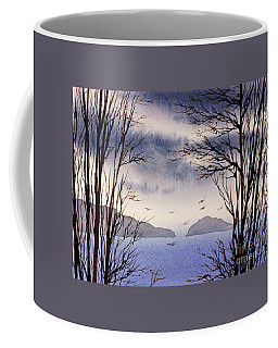 Coffee Mug featuring the painting Quiet Shore by James Williamson