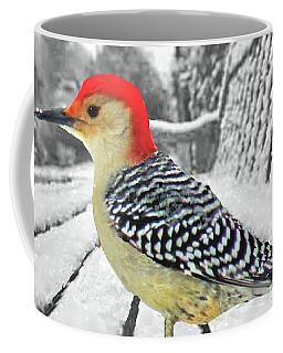 Red Bellied Woodpecker In Winter Coffee Mug