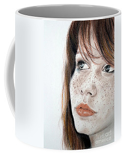 Red Hair And Freckled Beauty Coffee Mug