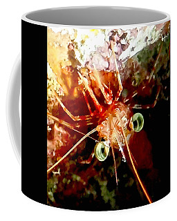 Red Night Shrimp Coffee Mug