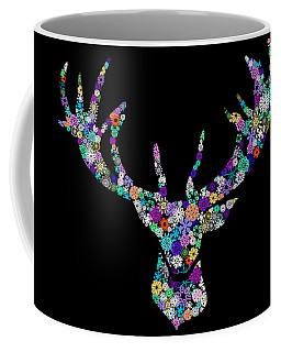 Reindeer Design By Snowflakes Coffee Mug