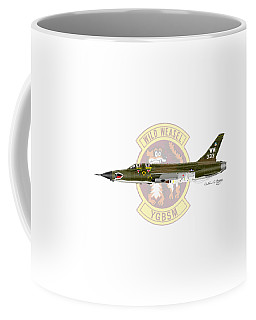 Republic F-105g Wild Weasel Coffee Mug by Arthur Eggers