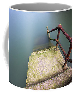 Rusty Handrail Going Down On Water Coffee Mug