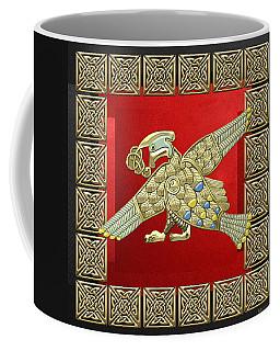 Sacred Celtic Bird On Red And Black Coffee Mug