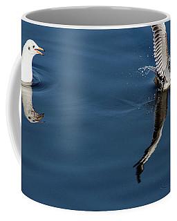 Seagull Fishing Coffee Mug by Odon Czintos