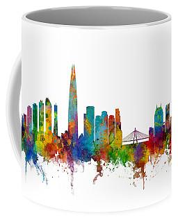 Coffee Mug featuring the photograph Seoul Skyline South Korea by Michael Tompsett